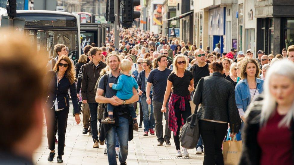 people in street