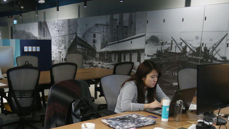 Espacio de trabajo compartido en Hong Kong