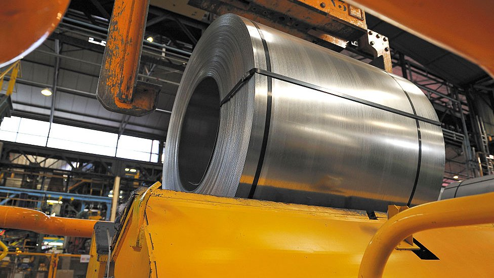 Una planta de aluminio
