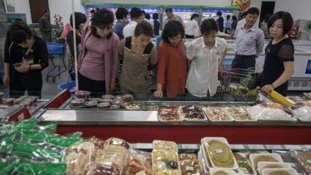 Mujeres en Pyongyang