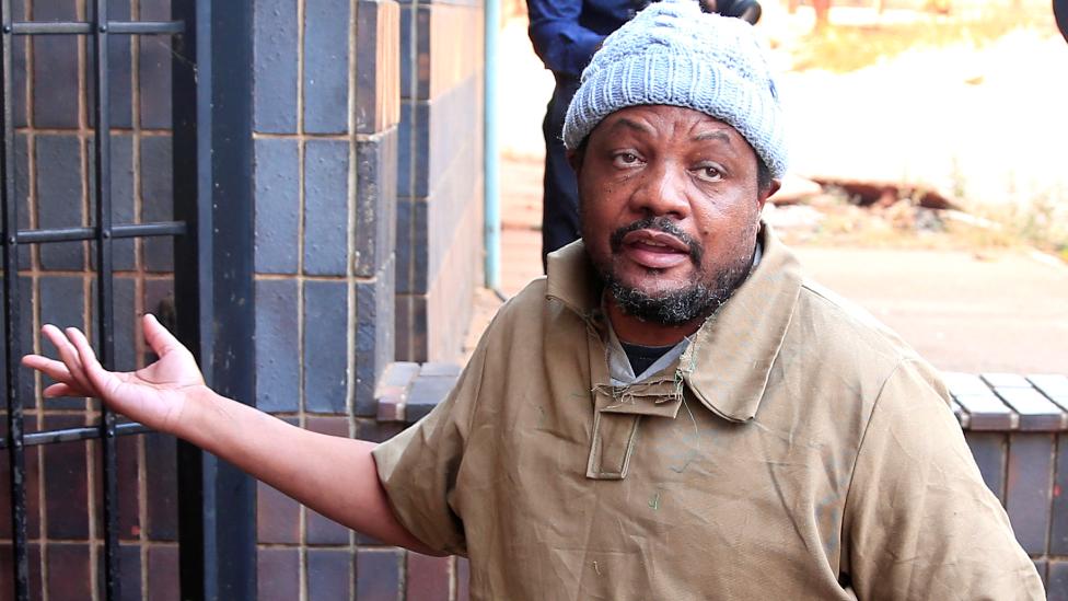 Zimbabwean journalist Hopewell Chinono arriving at court in Harare, Zimbabwe - 7 August 2020