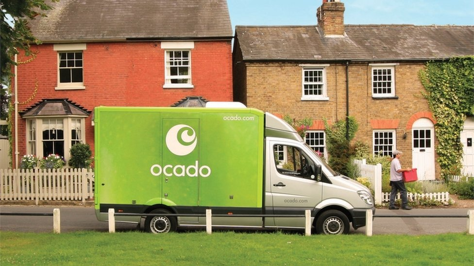 An Ocado delivery van