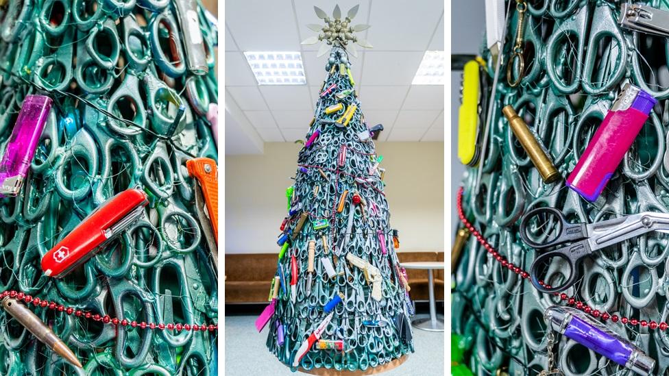 شجرة الميلاد في طار فيلنيوس في ليتوانيا