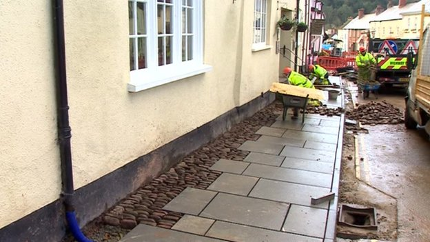 Dunster cobbles being ripped up and replaced with paving slabs