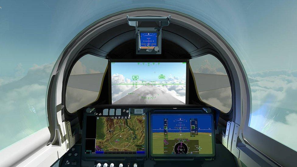 Nasa X-59 cockpit