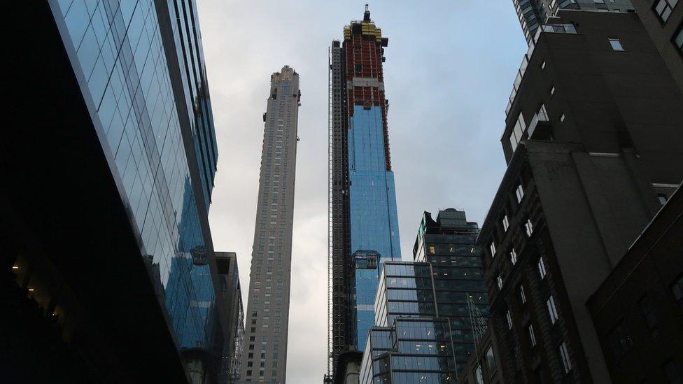 Central Park South y Central Park Tower, dos nuevas torres que marcan récords en Manhattan.