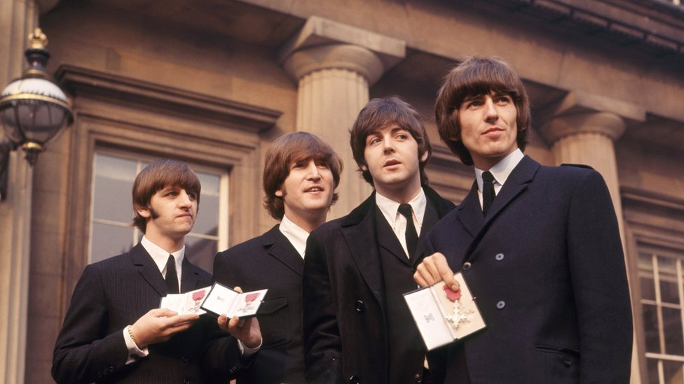 The Beatles at Buckingham Palace