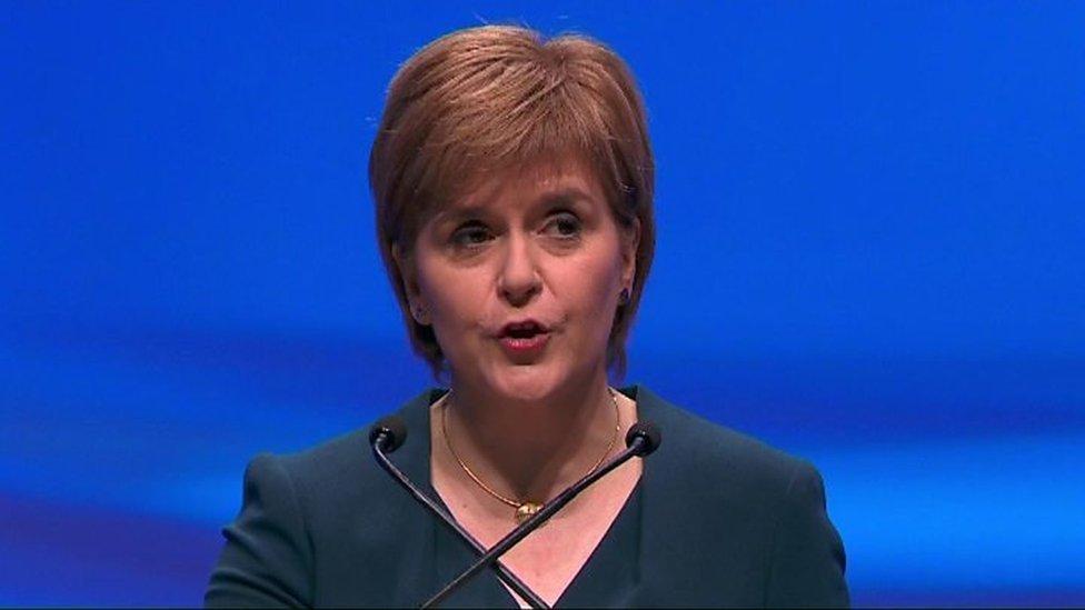 蘇格蘭民族黨領袖妮古拉·斯特金(Nicola Sturgeon)
