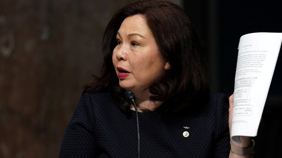 譚美·達克沃斯(Tammy Duckworth)在國會出席聽證會(6/5/2020)