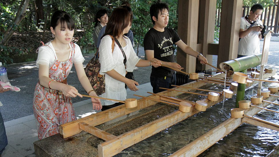 Washing basin at a Shinto shrine
