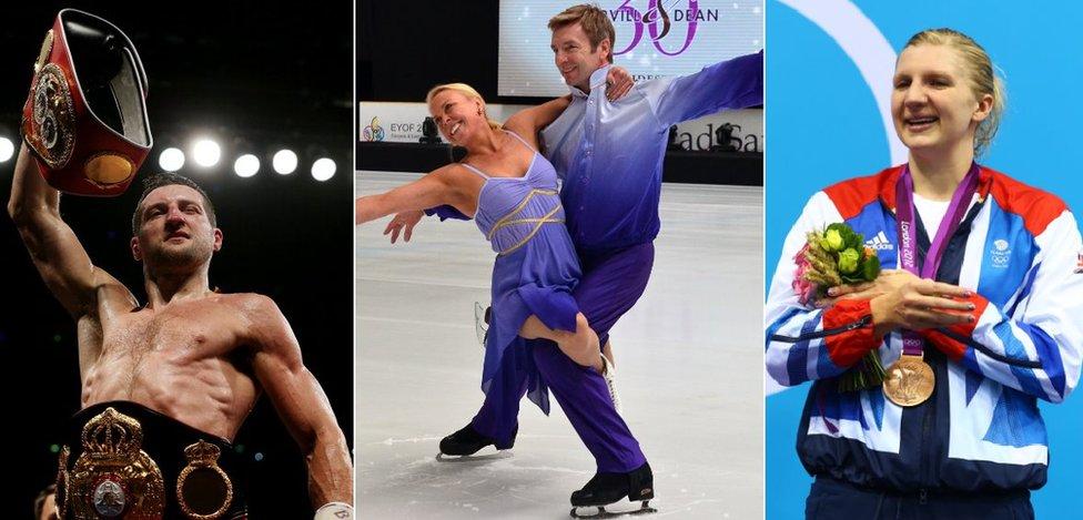 Carl Froch, Torvill and Dean, Rebecca Adlington
