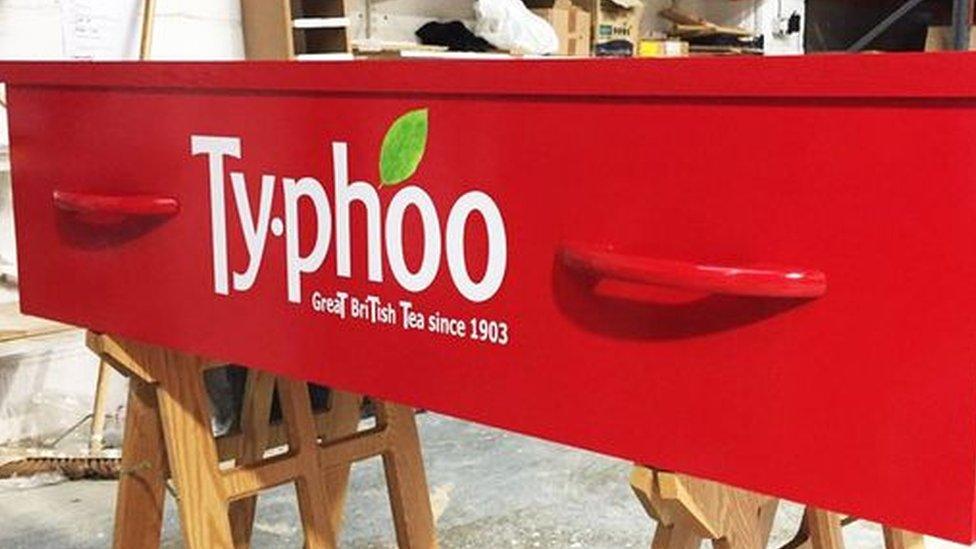 Typhoo coffin