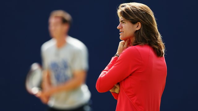 Andy Murray's coach, Amelie Mauresmo