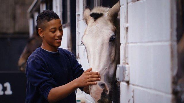 Kai with a horse