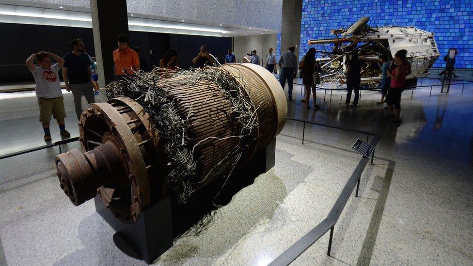 Motor de uno de los ascensores de las Torres Gemelas