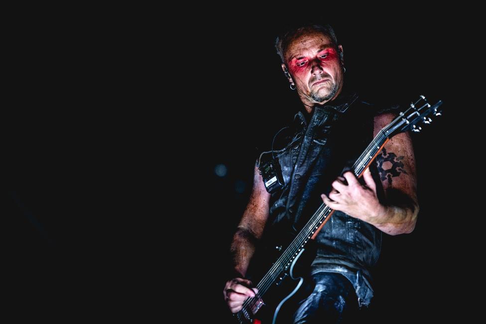 Rammstein guitarist Paul Landers plays at the heavy metal music festival Gods Of Metal