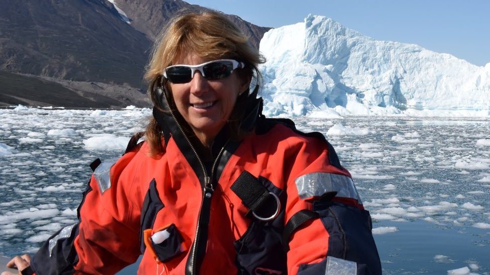 Dr Terrie Williams in East Greenland