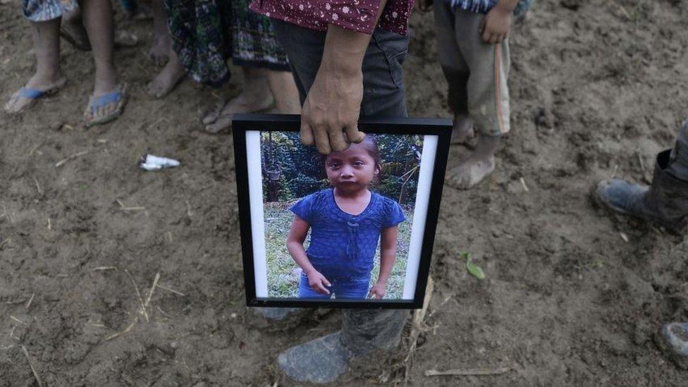 Funeral de Jakelin Caal en Guatemala