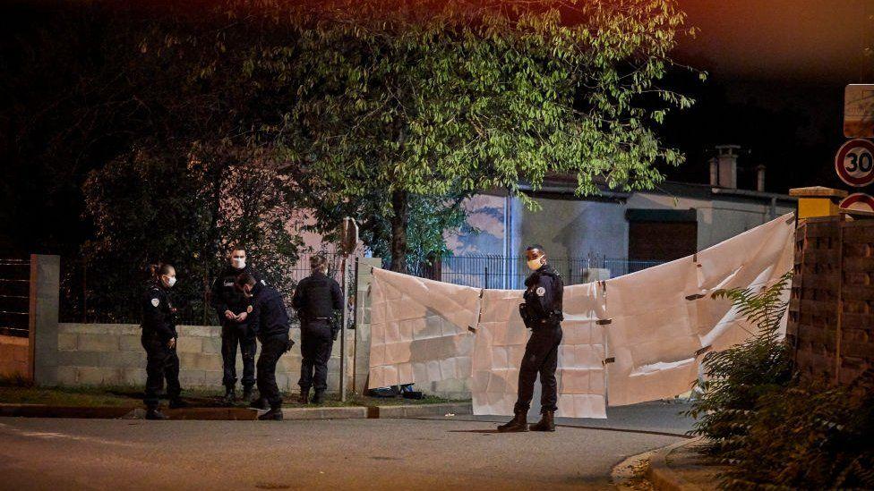 Sitio del incidente sellado por la policía