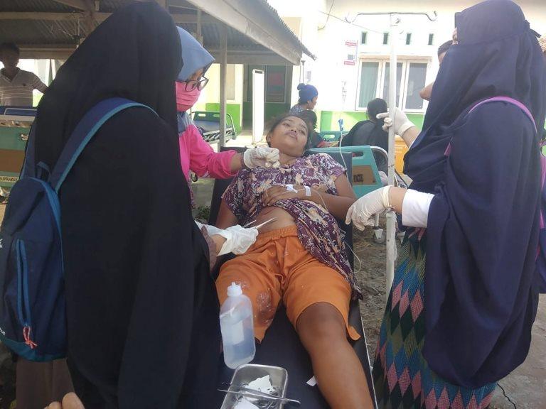 Una persona herida tras el sismo en Donggala