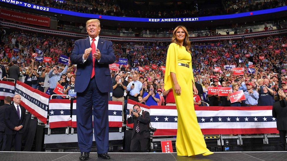 Donald Trump y Melania Trump.