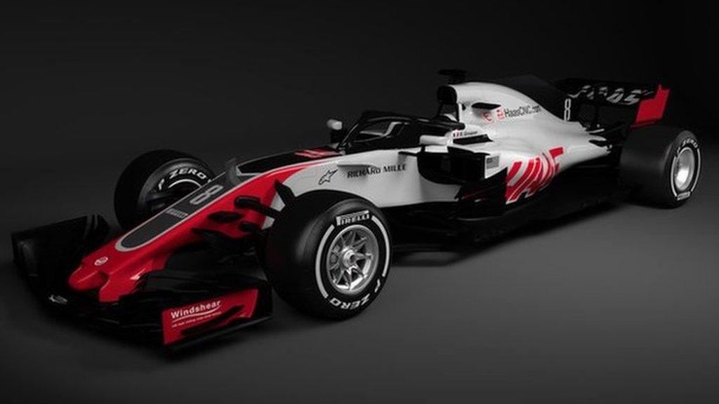 Haas unveil new VF-18 car for 2018 Formula 1 season