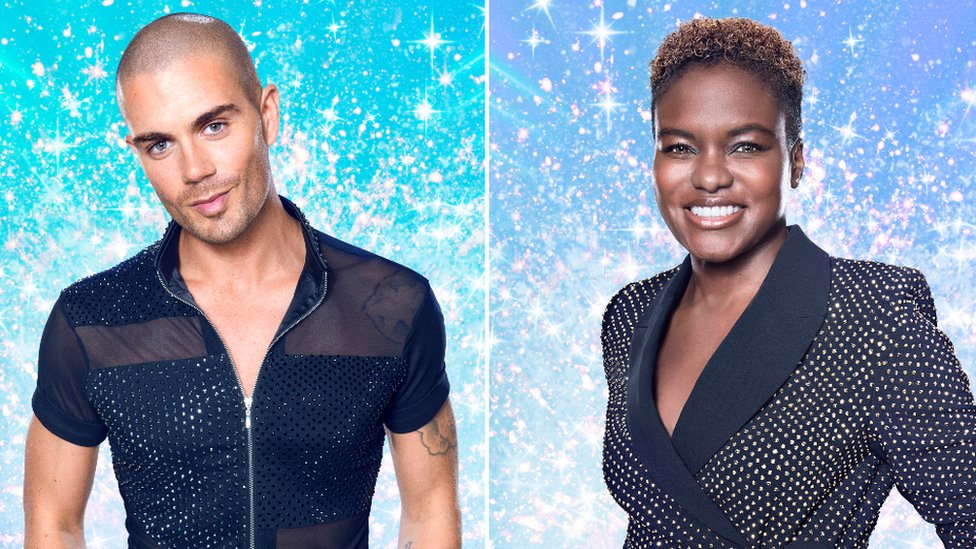 Max George and Nicola Adams