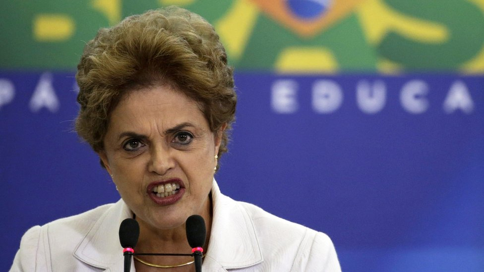 Brazilian President Dilma Rousseff in Brasilia, 12 April