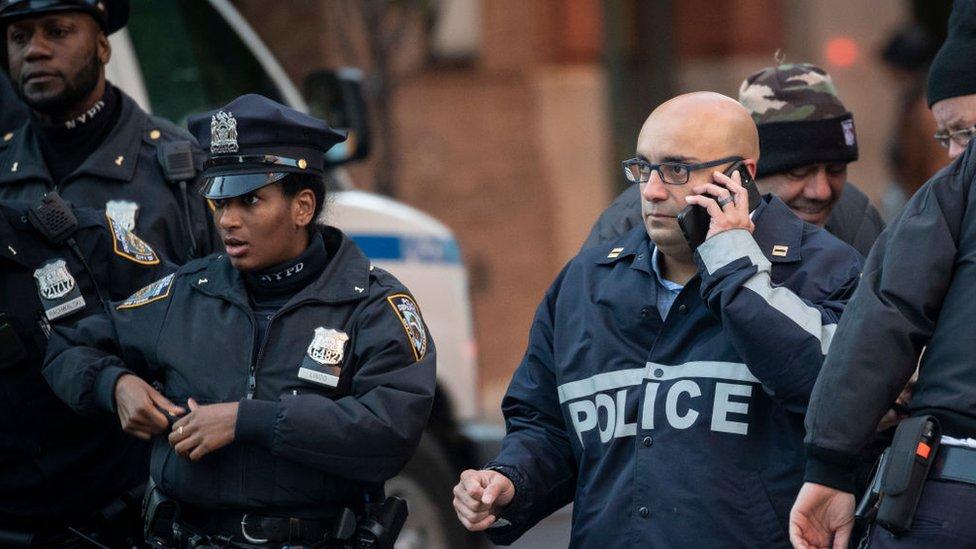 Agentes de policía en Nueva York.