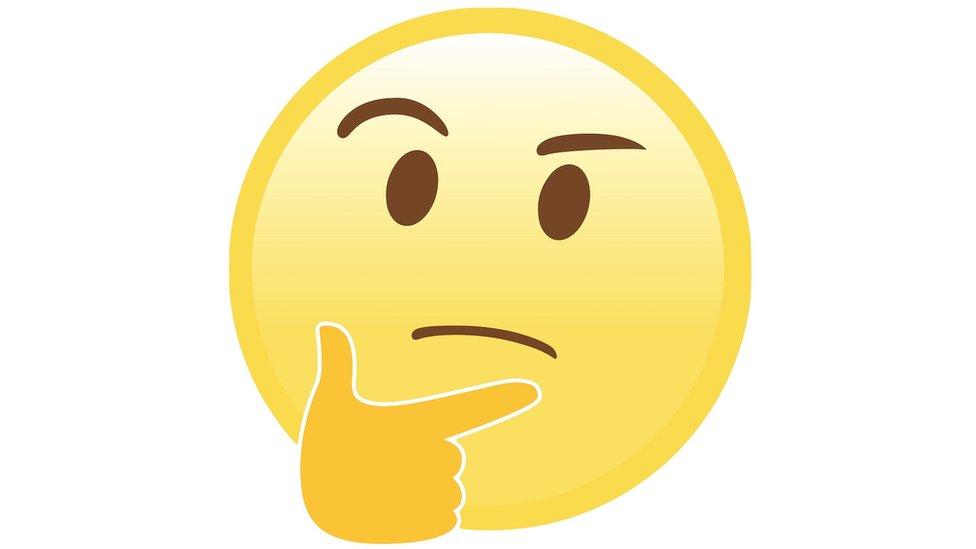 The thinking emoji