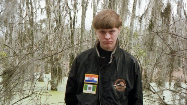 Undated photo of Dylann Roof