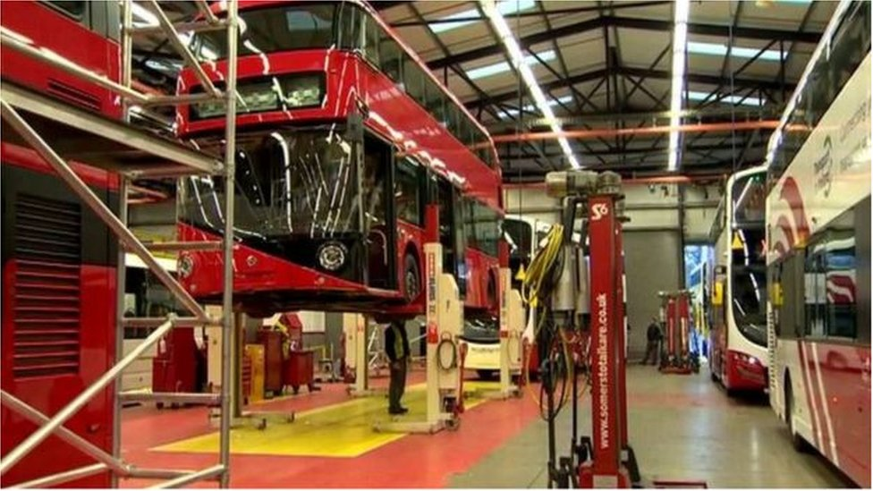 Buses being built