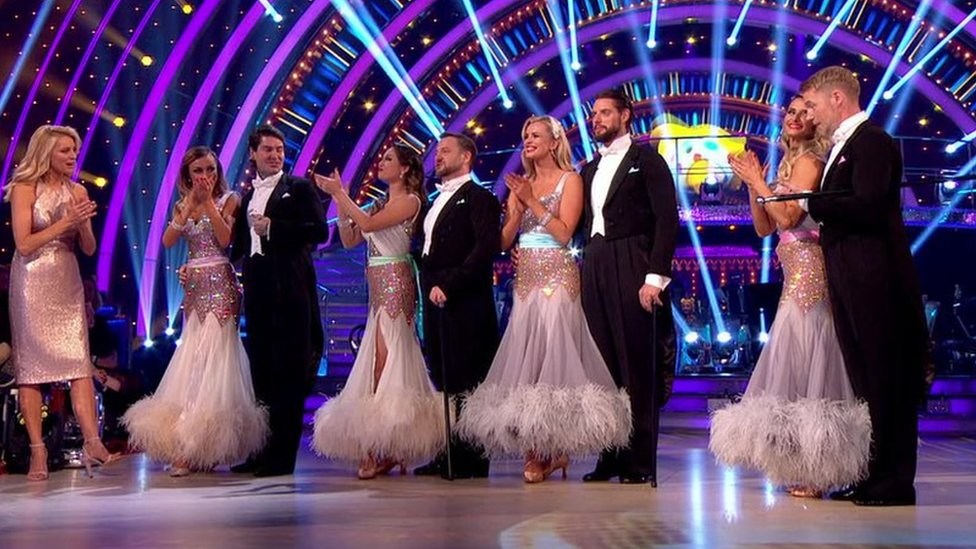 The four members of Boyzone performed with their Strictly partners