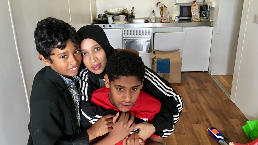 Lulu Abu Baker and two of her sons