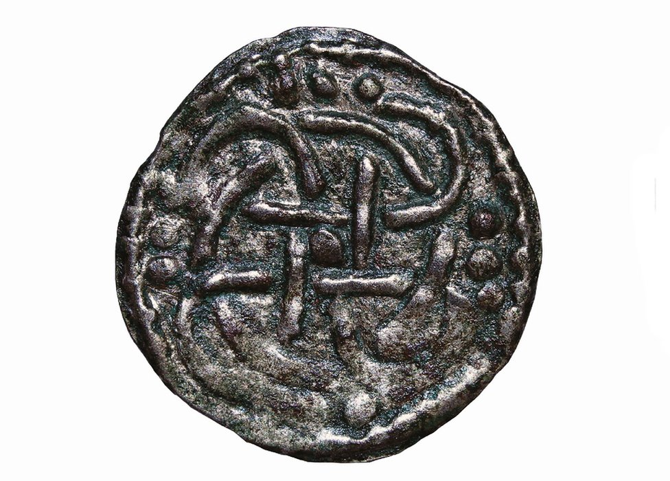 Silver penny of King Beonna, from the Middle Saxon settlement