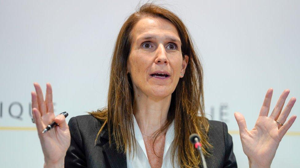 Sophie Wilmes, primera ministra belga.