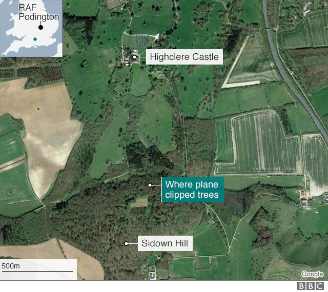 Map of Highclere