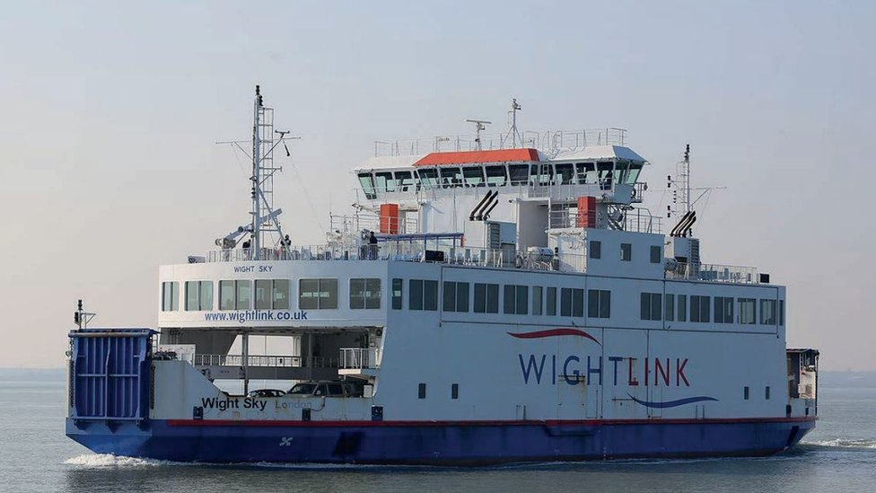 Wightlink ferry speed restrictions introduced after fires
