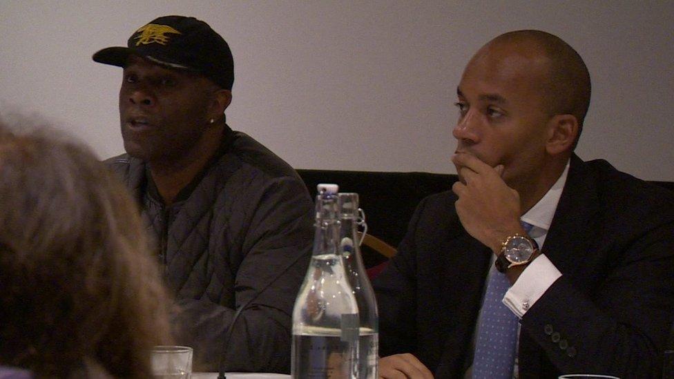 Former resident Raymond Stevenson and Labour MP Chuka Umunna