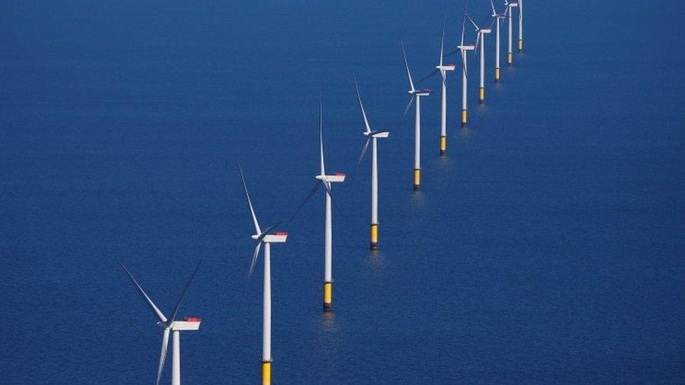 風力發電公司的風力渦輪機