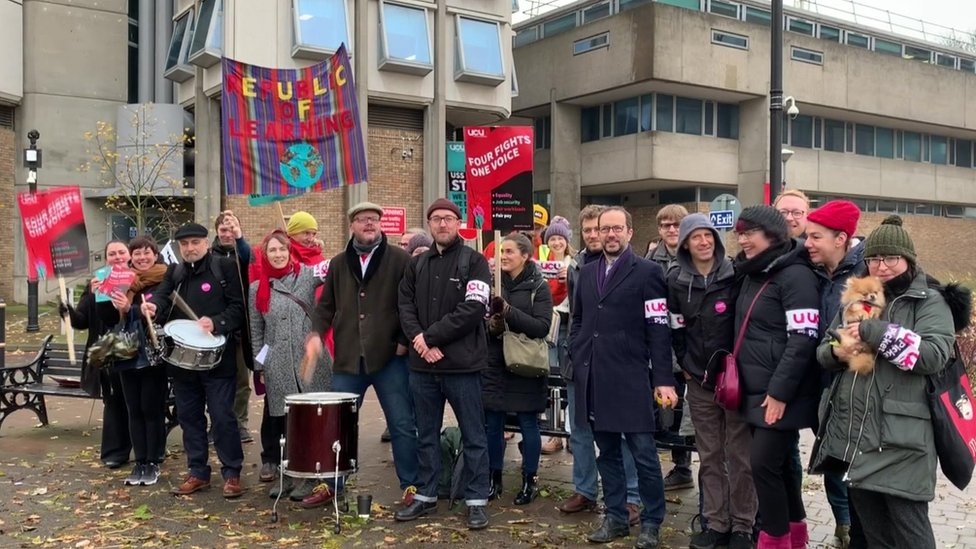 Leicester University - strike in November