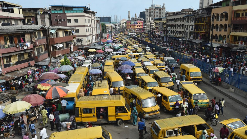 Bus station in Lagos