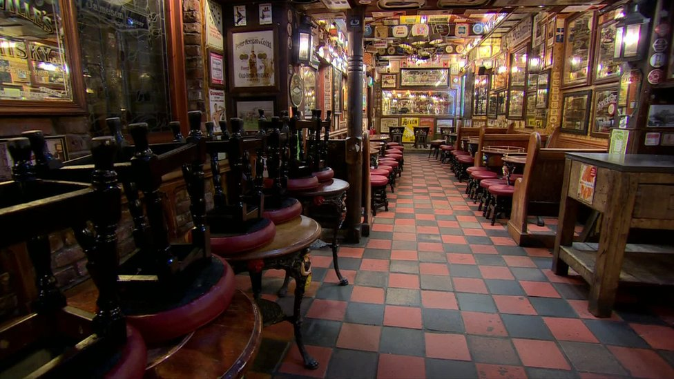 Empty pub in Belfast