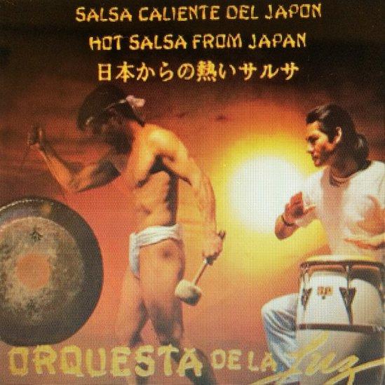 """Afiche de """"Salsa caliente del Japón"""", el primer éxito de la Orquesta"""
