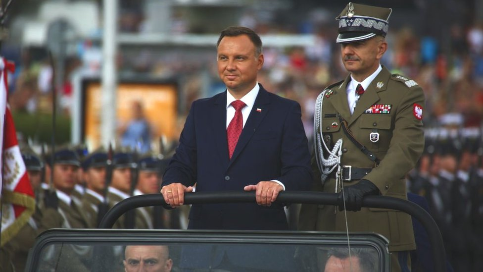 Polish president Andrzej Duda attends the Army Celebration Day on 15 August 2018