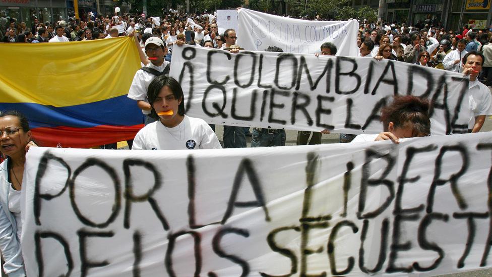 Protesta en Colombia