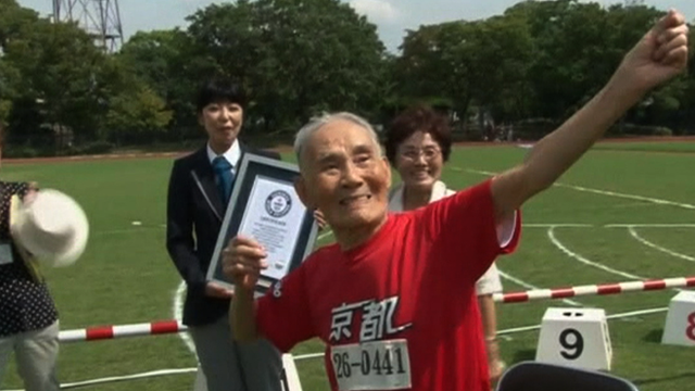 105-year-old Hidekichi Miyazaki, 'The Golden Bolt'