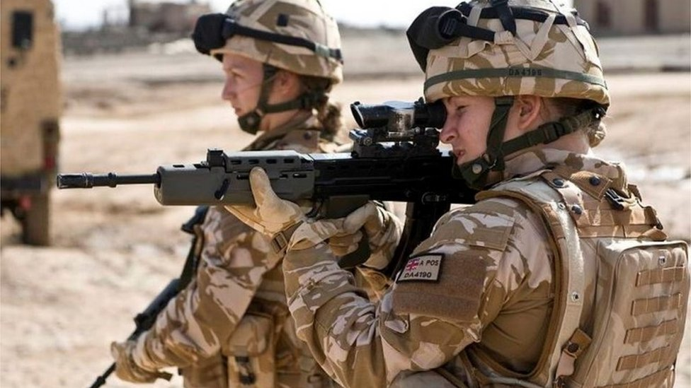 Female British soldiers in Afghanistan
