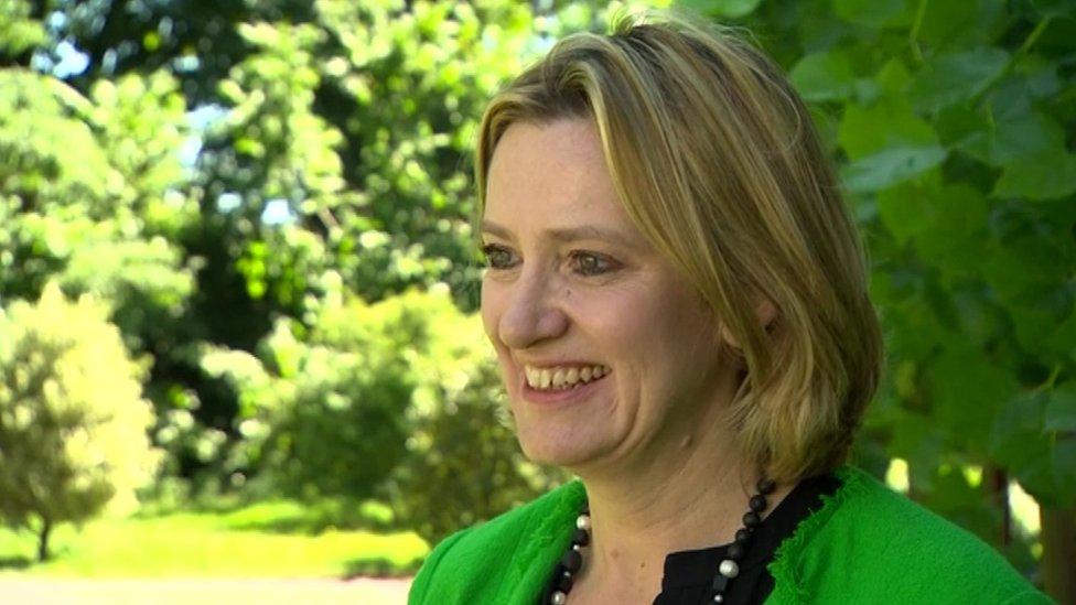 New UK Home Secretary Amber Rudd at Lambeth Palace