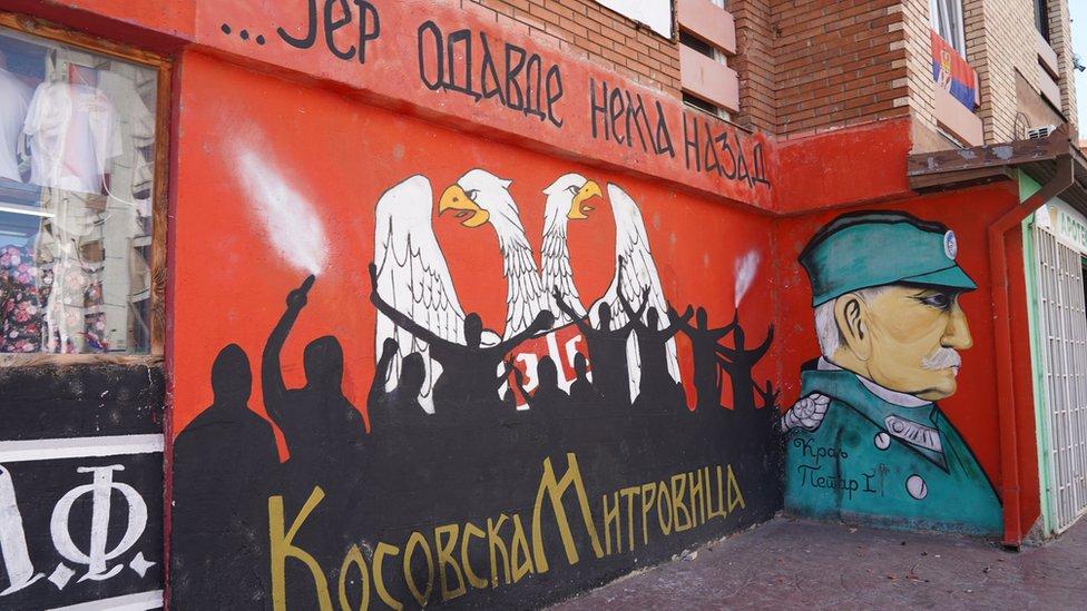 Zidovi su takođe iskorišćeni za murale sa nacionalnim porukama